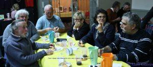 de droite à gauche : Jean Claude Chambert, Marie Line Cauquil-Chambert, Christiane Reverte, Jean Louis Seigneury, Jean Pierre Duthoit, Christian Escribe et Alain Garres (le photographe).